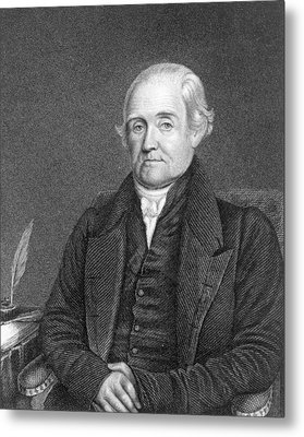 Noah Webster 1758-1843  Metal Print by James Herring