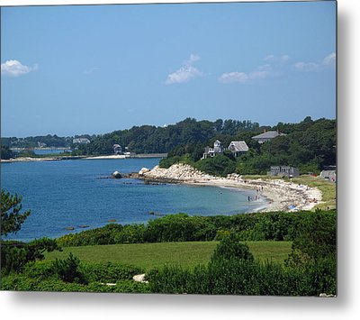 Nobska Beach Metal Print by Barbara McDevitt