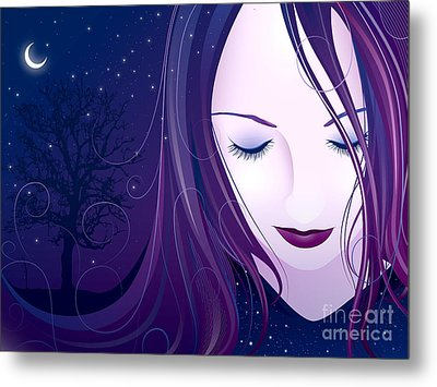Nocturn Metal Print by Sandra Hoefer
