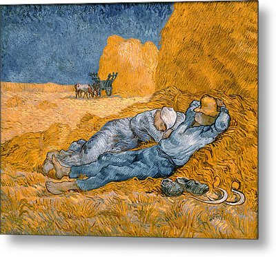 Noon The Siesta After Millais Metal Print by Philip Ralley