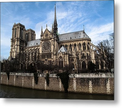 Norte Dame Cathedral-the South Side Metal Print by Linda Posnick