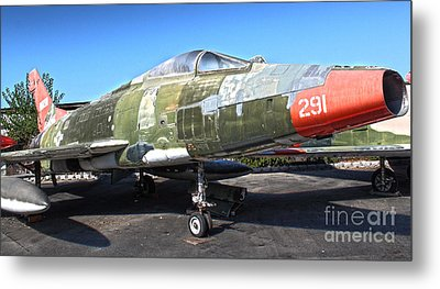 North American Super Sabre Qf-100d Metal Print by Gregory Dyer