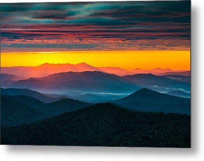 North Carolina Blue Ridge Parkway Morning Majesty Metal Print by Dave Allen
