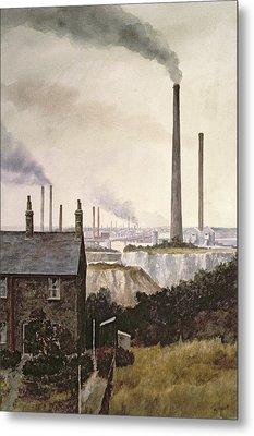 North Kent Landscape  Nr Northfleet Gravesend Metal Print by Vic Trevett
