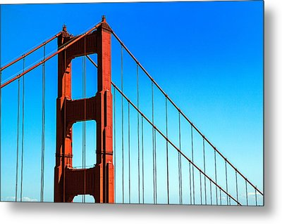 North Tower Golden Gate Metal Print by Garry Gay
