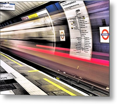 Northbound Underground Metal Print by Rona Black