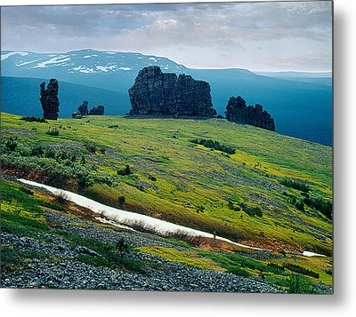 Northen Summer Landscape Metal Print by Vladimir Kholostykh