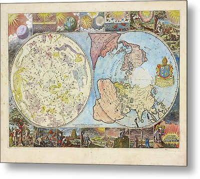 Northern Hemisphere Map Metal Print by Lionel Pincus And Princess Firyal Map Division/new York Public Library