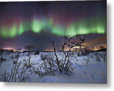 Northern Lights - Creative Editing Metal Print by Frank Olsen