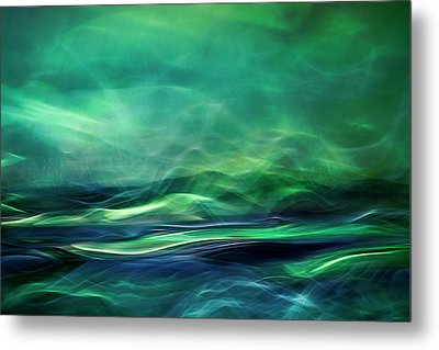 Northern Lights Metal Print by Willy Marthinussen