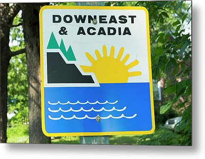 Northern Maine, Road Down East Metal Print by Bill Bachmann
