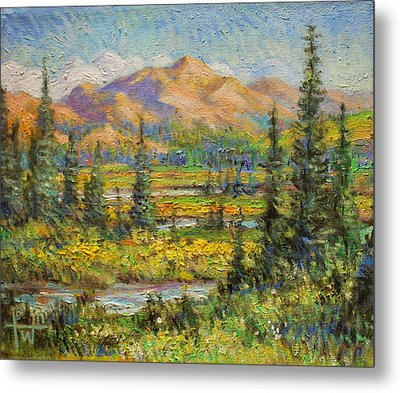 Northwest In The Rockies Metal Print by Henry David Potwin