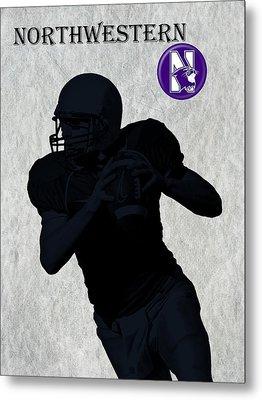 Northwestern Football Metal Print by David Dehner