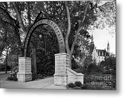 Northwestern University The Arch Metal Print by University Icons