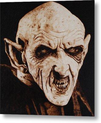 Nosferatu Metal Print by Invictus IA