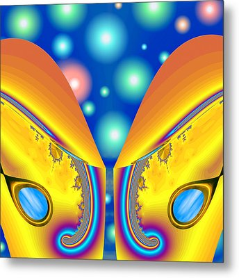 Not From The Neighborhood - Party Metal Print by Wendy J St Christopher