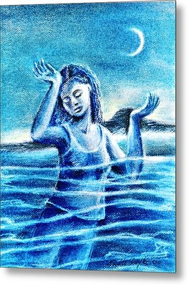Not Waving But Drowning Metal Print by Trudi Doyle