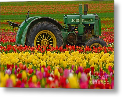 Nothing Runs Like A Deere Metal Print by Nick  Boren