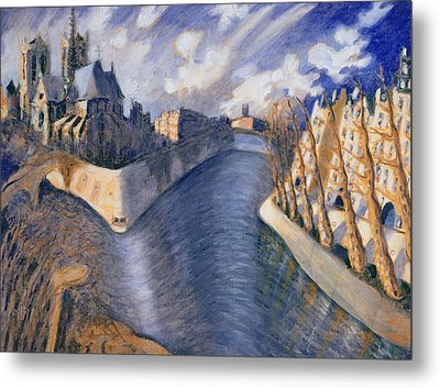 Notre Dame Cathedral Metal Print by Charlotte Johnson Wahl