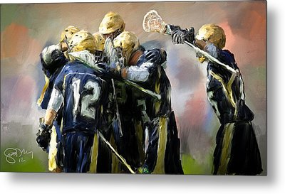 College Lacrosse Celebration  Metal Print by Scott Melby