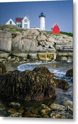 Nubble Lighthouse At Low Tide Metal Print by Scott Thorp