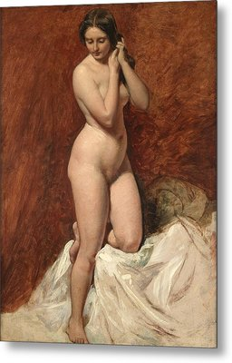 Nude From The Front Metal Print by William Etty