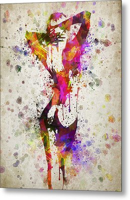Nude In Color Metal Print by Aged Pixel