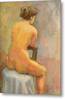 Nude Painting  4 Metal Print by Alfons Niex