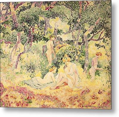 Nudes In A Wood, 1905 Metal Print by Henri-Edmond Cross