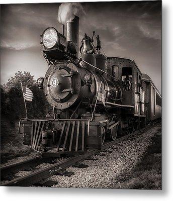 Number 4 Narrow Gauge Railroad Metal Print by Bob Orsillo
