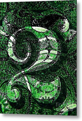 Number Two In Green  Metal Print by Chris Berry