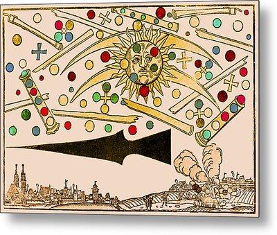 Nuremberg Ufo 1561 Metal Print by Science Source