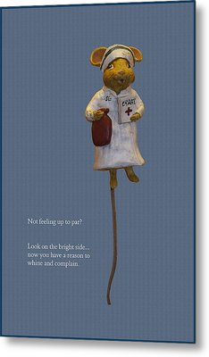 Nurse Mouse Metal Print by Sally Weigand
