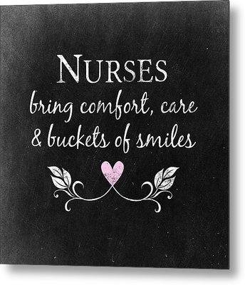 Nurses Bring Comfort Metal Print by Flo Karp