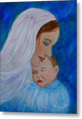 Nurturing Love Of A Mother  Metal Print by The Art With A Heart By Charlotte Phillips