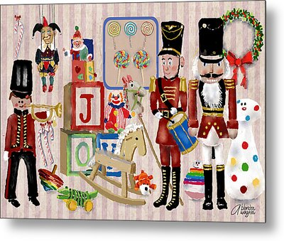 Nutcracker And Friends Metal Print by Arline Wagner