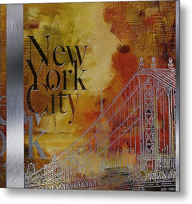 Ny City Collage - 6 Metal Print by Corporate Art Task Force