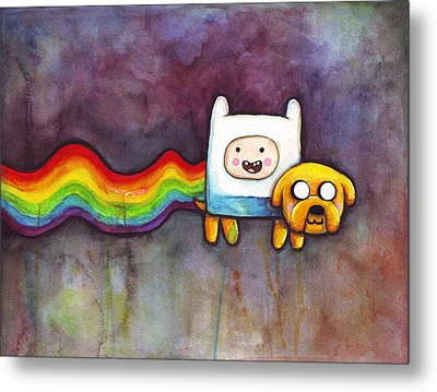 Nyan Time Metal Print by Olga Shvartsur