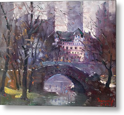 Nyc Central Park II Metal Print by Ylli Haruni