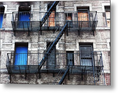Nyc Escape Metal Print by John Rizzuto