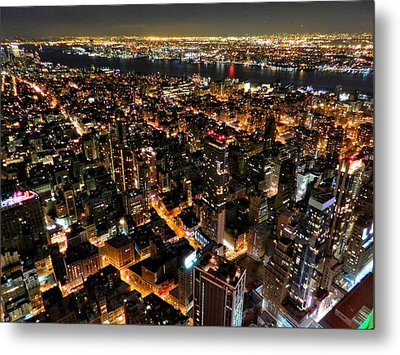 Nyc - From The Empire State Bldg. 002 Metal Print by Lance Vaughn