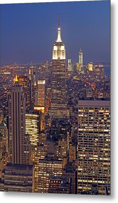 Nyc Midtown And Downtown Metal Print by Juergen Roth