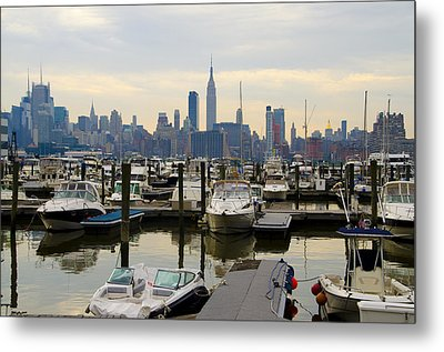 Nyc View From Lincoln Harbor Weehawkin Nj Metal Print by Bill Cannon