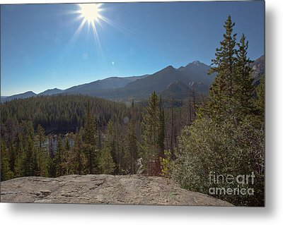 Nymph Lake And Longs Peak Metal Print by Kay Pickens