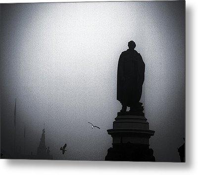 O O'connell Street Under Fog Metal Print by Patrick Horgan