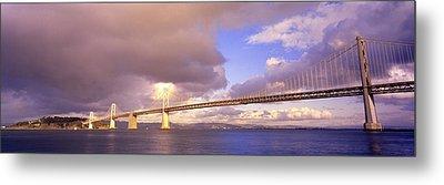 Oakland Bay Bridge San Francisco Metal Print by Panoramic Images