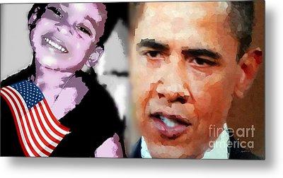 Obama - If I Had A Son He Would Look Like Me Metal Print by Fania Simon