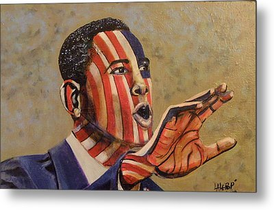 Obama...a State Of Mind Metal Print by James  Lalepop Becker