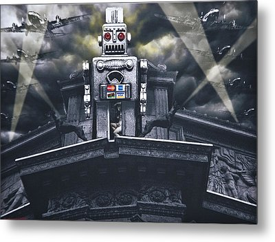 Obey Resistance Is Futile Metal Print by Larry Butterworth