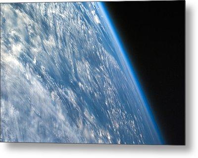 Oblique Shot Of Earth Metal Print by Adam Romanowicz